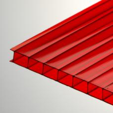 Изображение -  Сотовый поликарбонат красный 10мм*2100*12000 мм
