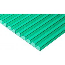 Сотовый поликарбонат зеленый 6 2R Премиум